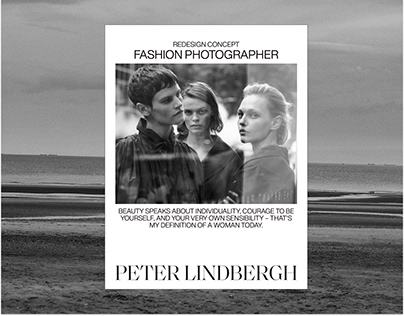 Peter Lindbergh Redesign concept