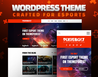 PixieBolt | WordPress Gaming Theme for eSports Teams