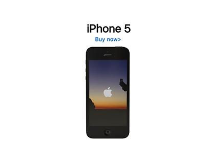 iPhone 5 advertisement.
