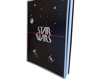 Caderno, costura, star wars