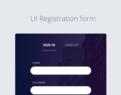 UI Registration Form