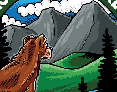 Mountain K9 Acres Logo Design / Illustration