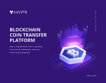 HYPR | Blockchain Concept Landing Page Design