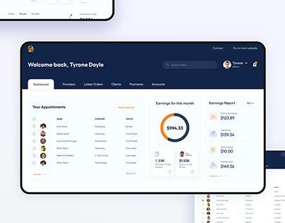 Dashboard Product Design
