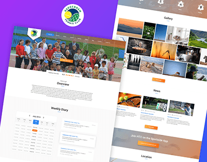 Sports club one page website