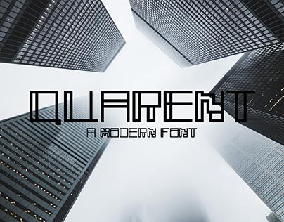 Quarent - A Modern Font