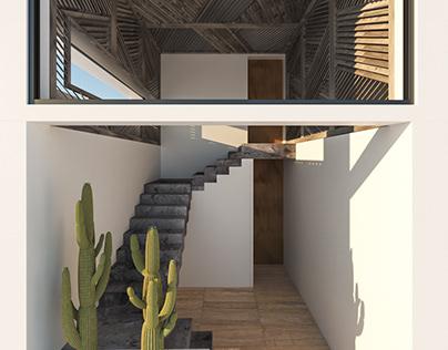 Stairs concept for Ibiza Villa
