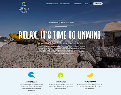 Columbia Valley Tourism (Website design and research)