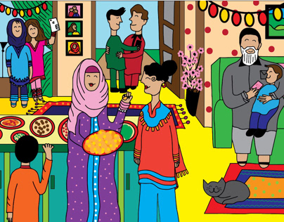 Eid Mubarak! postcards.