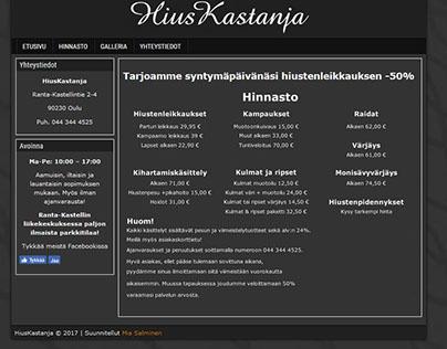 HiusKastanja website rewramp