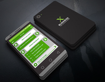 phone style business card design