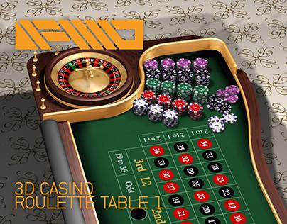 3D: Roulette Table