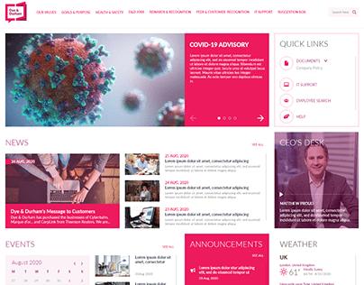 Dye&Durham Intranet website design