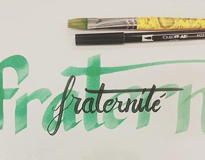 Brushpen & Flat Pen Lettering Set 1