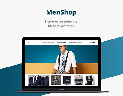 Men shop/E-commerce template/Web design/UI/UX