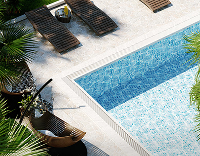 Swimming pool project - residential house