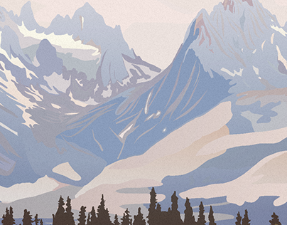 Mountains Illustration