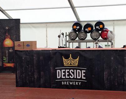 Deeside Brewery - Banner, beermat, and brochure design