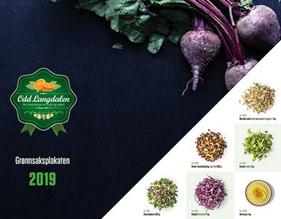 Vegetable poster 2019