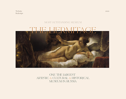 The Hermitage — website redesign
