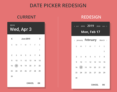 Android date picker redesign