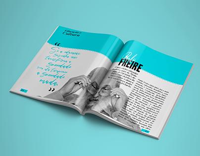 Diagramação | Panfleto, Revista e Poster - Paulo Freire