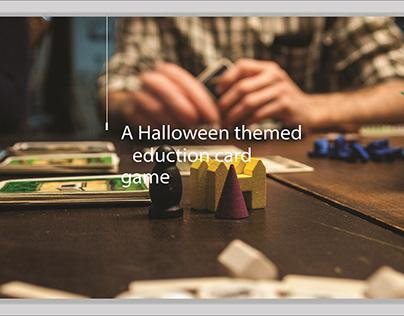 Halloween themed Education card game