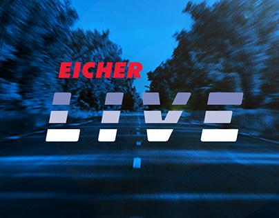 Eicher Live branding