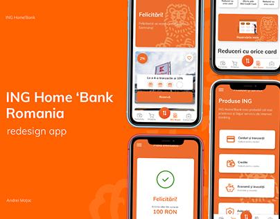 ING Home'Bank Romania Banking Redesign App
