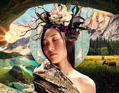 enchanted woodland floral headpiece