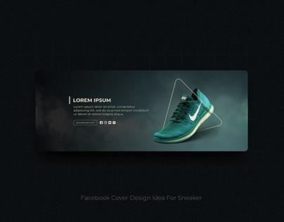 Facebook Cover Design Idea for Sneaker