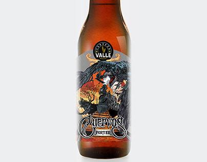 Cerveza Valle label design