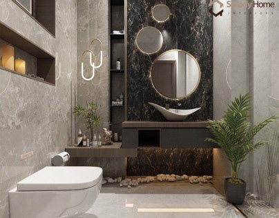 Modern bathroom design in UAE Dubai