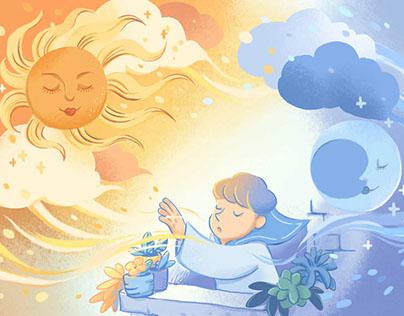 Children's magazine illustration