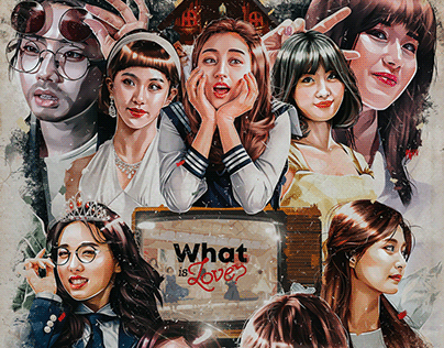 TWICE WHAT IS LOVE ART SERIES