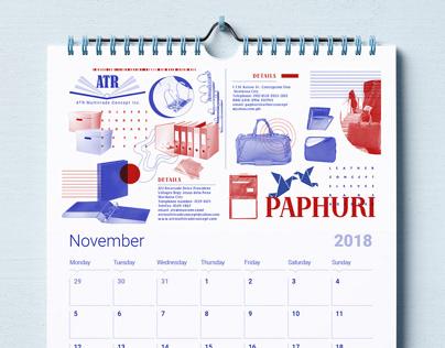 Paphuri and ATR Multitrade Calendar Design