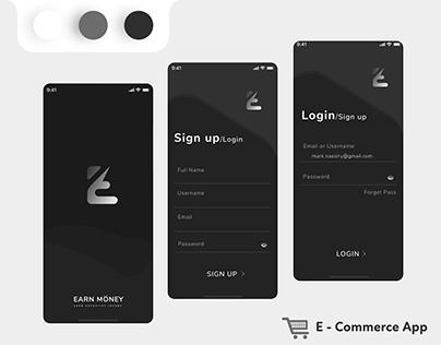 Sign up / Login / Splash UI