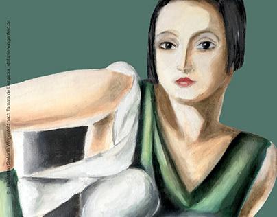 Oil Painting / Tamara de Lempicka