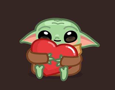 Baby Yoda Telegram Stickers