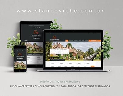 Diseño sitio web http://stancoviche.com.ar/