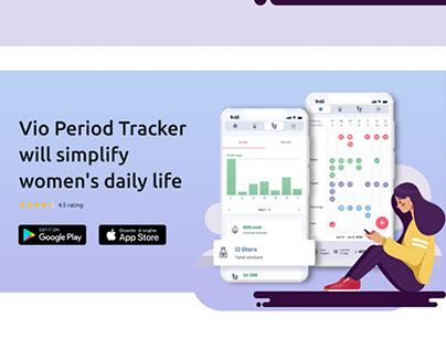 Landing page | Vio Period & Ovulation Trackert App