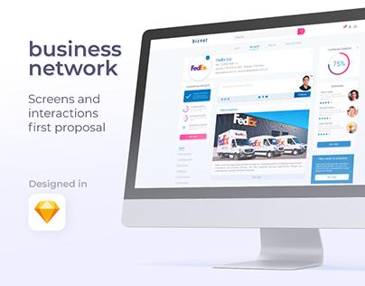 Business Network | UI concept screens design