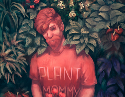 The man and the plants - Digital Illustration