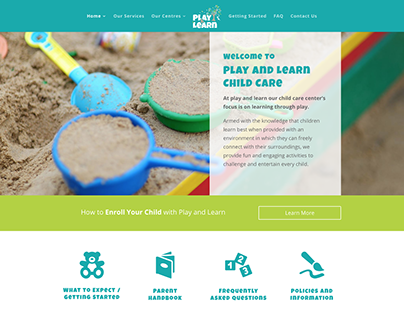 PLAY AND LEARN BRANDING, PRINT, SIGNAGE AND WEBSITE