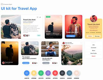 UI Kit - Travel App