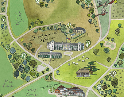 Map of Goodwood House