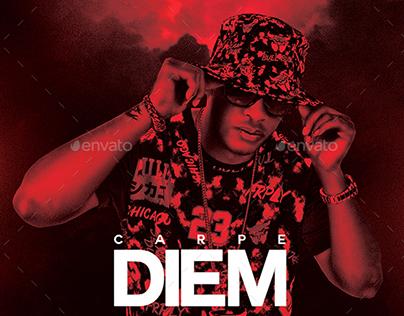 Carpe Diem | Dark Mixtape Album CD Cover Template
