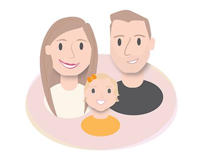 Custom Family Portrait: Digital Illustration