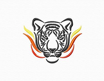 Fiery Tiger Face