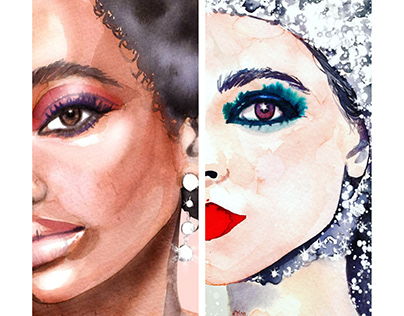 Chanel Beauty Illustrations